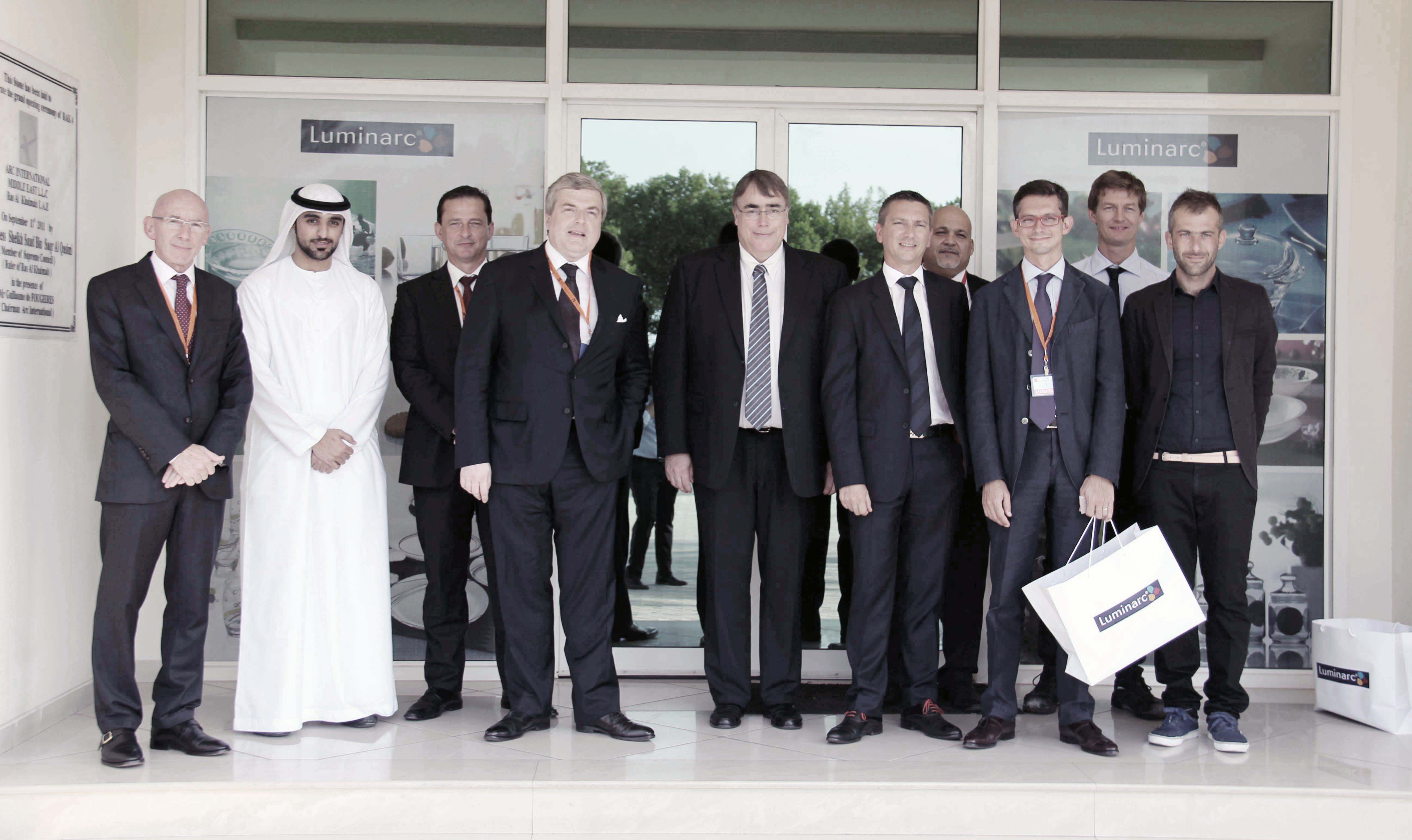 The company Arc International after the Crystal Glassware Arquesis a small family business founded in 1825 in northern of France has become over the ... & The Ambassador of France Michel Miraillet visiting the Middle East ...