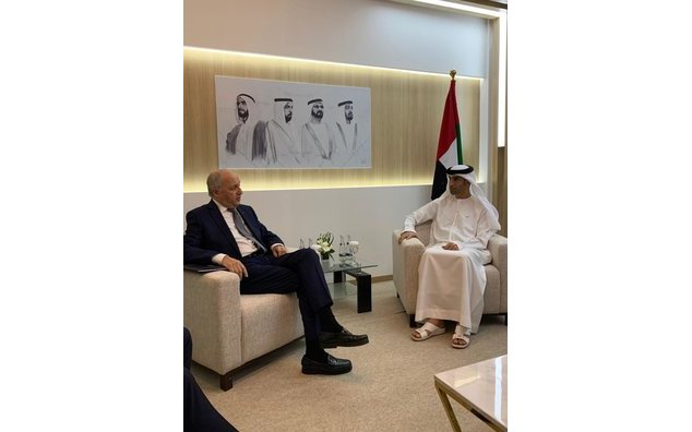 Rencontre Laurent Fabius - Thani Al Zeyoudi
